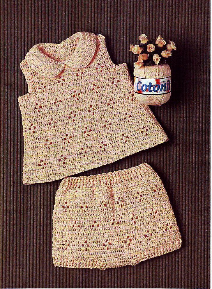 Вязание для детей. Топ и шорты.Схема вязания крючком. - Вязание комплектов и комбинезонов для новорожденных - Вязание малышам - Вязание для малышей - Вязание для детей. Вязание спицами, крючком для малышей