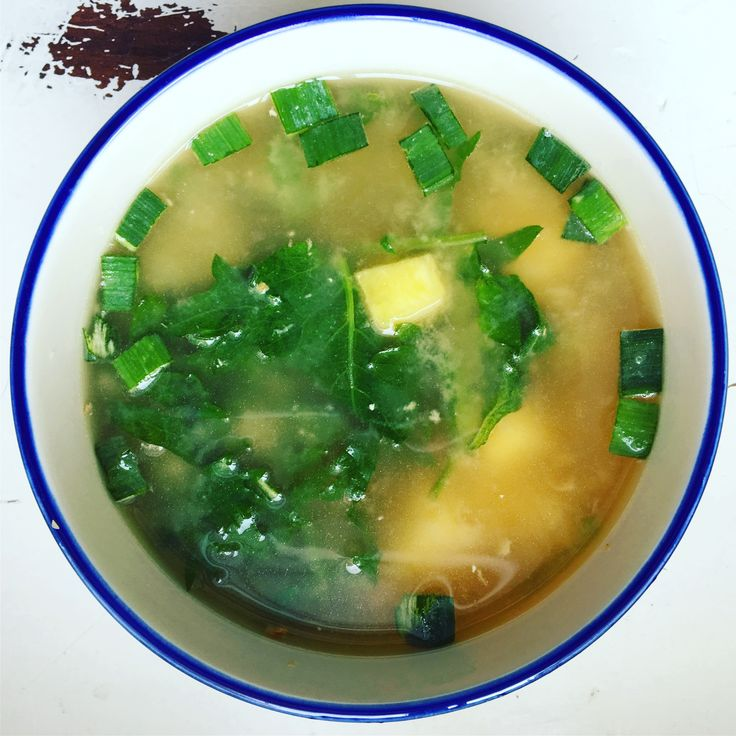 Ginger Miso Soup with Kabocha Squash (Low FODMAP)