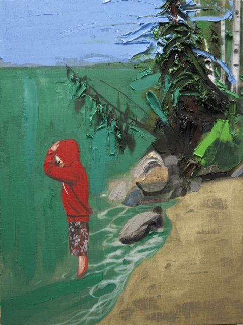 Kim Dorland - Waskesiu Lake/Last Trip,: 40 x 30 Est. Value: $13,500 Oil and acrylic on linen over wood panel Date: 2014