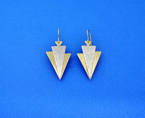The Arrows. Handmade Earrings. Silver Earrings. by GreeceJewelry
