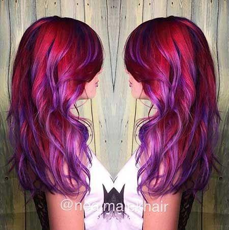10+ Lila bis Rot Ombre Haarfarbe, Farbe, Idee, Lila, Ed – Frisur