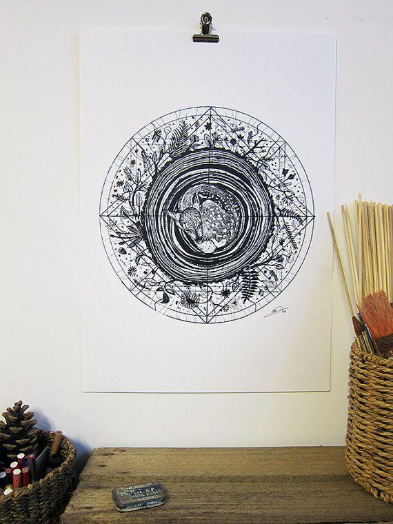 Wood // A3 print by SandraDieckmann on Etsy