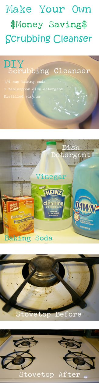 Tackle your stovetop with this DIY Eco-Friendly and Money Saving Scrubbing Cleanser | Cupcakes and Crinoline