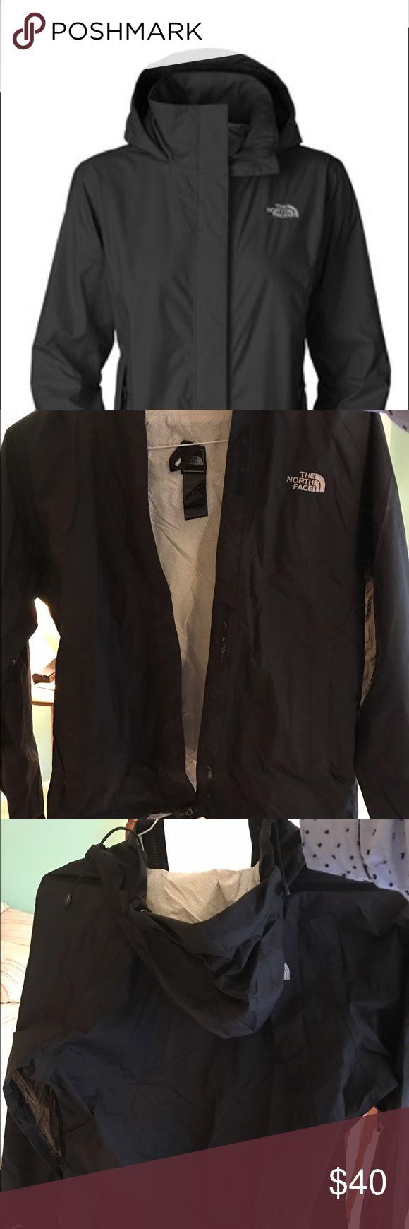 Women's Black North Face rain jacket Black hardy been worn women's rain jacket North Face Jackets & Coats Trench Coats