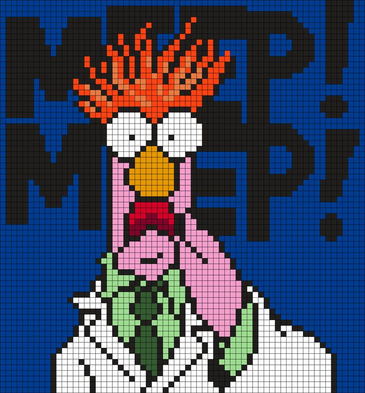 Beaker From The Muppets (Square) by Maninthebook on Kandi Patterns