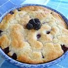 Super easy and delicious blackberry cobbler recipe.  If you don't have self-rising four, just add 1&1/4 tsp baking powder and 1/4 tsp salt.