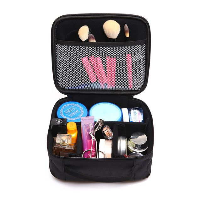 Do Not Miss Women Cosmetic Bag High Quality Travel Cosmetic Organizer Zipper Portable Makeup Bag Designers Trunk Make up bags