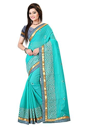 Indian Fashionista Pure Chanderi Cotton Embroidered Ethnic Party Wear Saree  For Women