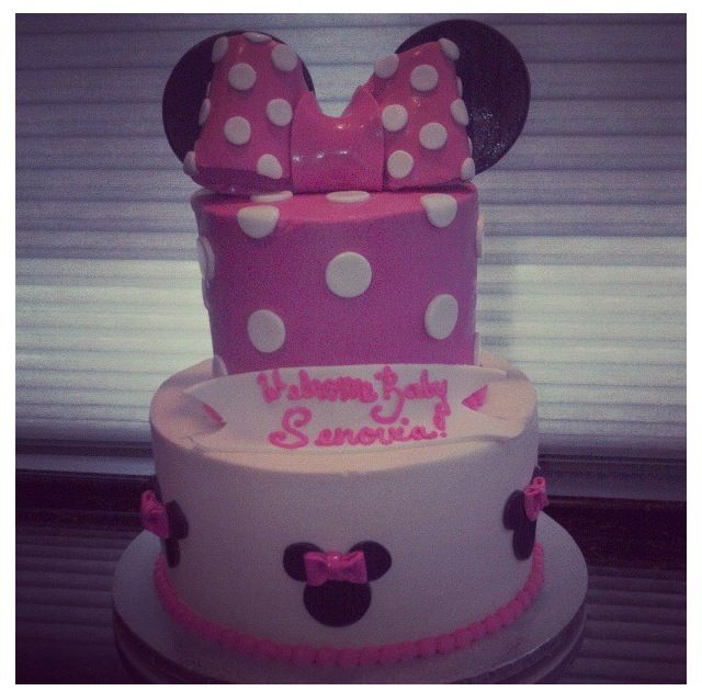 Minnie Mouse Baby Shower Cake Images : 17 Best images about Baby shower cakes on Pinterest ...