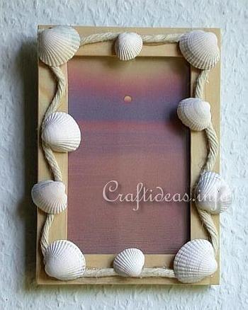 Maritime Craft - Seashell Craft - Seashell Picture Frame