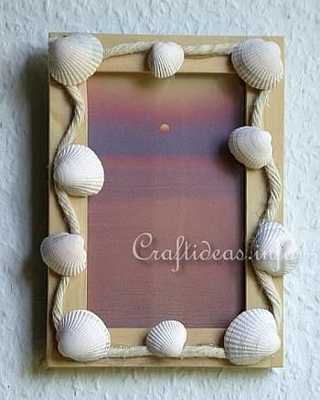 Maritime Craft - Seashell Craft - Seashell Picture Frame