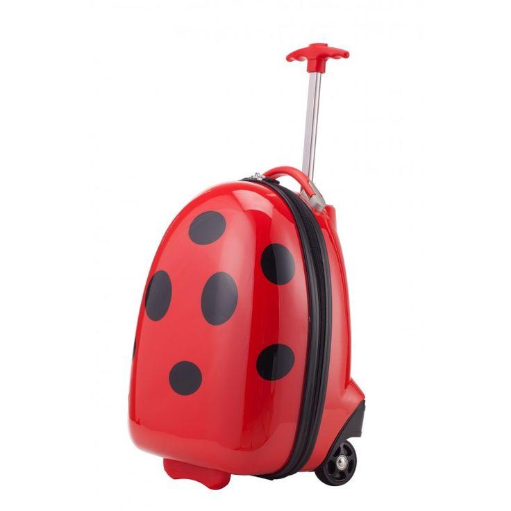 """For Kids - Kindertrolley Hartschalenkoffer Marienkäfer, 47 cm, 24 Liter; Roter #Rollkoffer aus der Serie """"For Kids"""" von #Hauptstadtkoffer.  #Hartschalenkoffer #Rot #Rollkoffer #Trolley #Koffer #Travel #Luggage #Reisen #Urlaub #red #rouge #Marienkäfer => mehr Rote Koffer: https://hauptstadtkoffer.de/de/catalogsearch/result/index/?color=26&limit=90&q=Rot"""