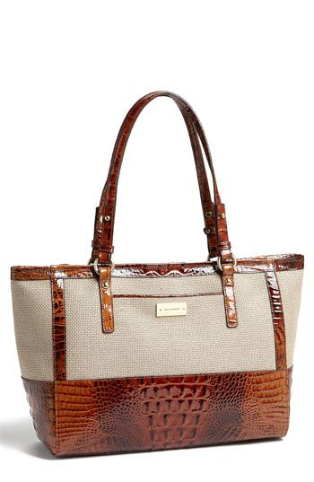 Brahmin 'Arno - Medium' Tote! This would make the perfect Fall handbag, yet with the choice of colors this handbag could also transition into the spring as well. #Fall #Brahmin #Handbag