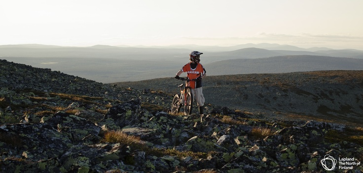 A bike-hike in Lapland of Finland.