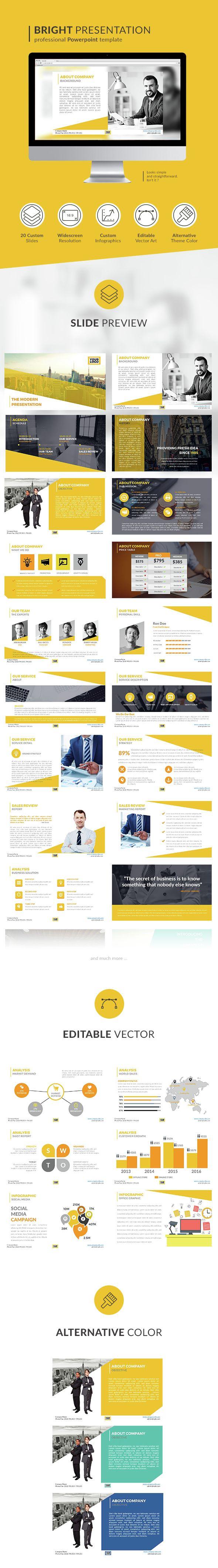 Modern Bright PowerPoint Presentation Template. Download here: http://graphicriver.net/item/modern-bright-presentation/14831257?ref=ksioks
