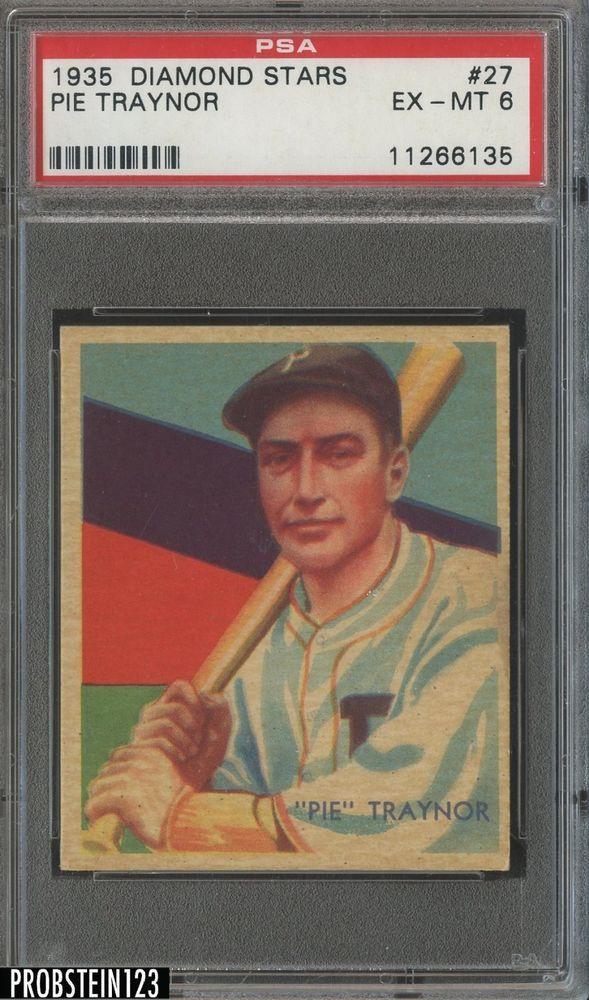 1935 Diamond Stars 27 Pie Traynor Hof Pittsburgh Pirates Psa 6 Ex