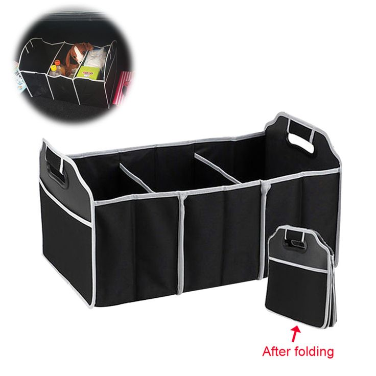 Storage Box bag car Auto Care clothes folding truck storage box Car Trunk Tidy Bag Organizer Storage Box with cooler bag black #Affiliate
