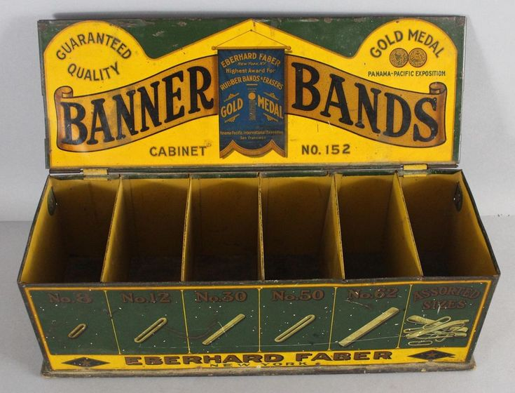 Antique Early 20thC Eberhard Faber Pencil Penholder Eraser Counter Display Case #Faber