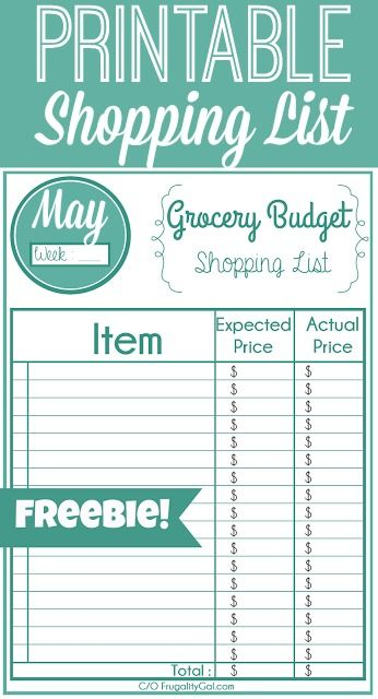 162 best Free Organization Printables images on Pinterest Free - grocery templates free