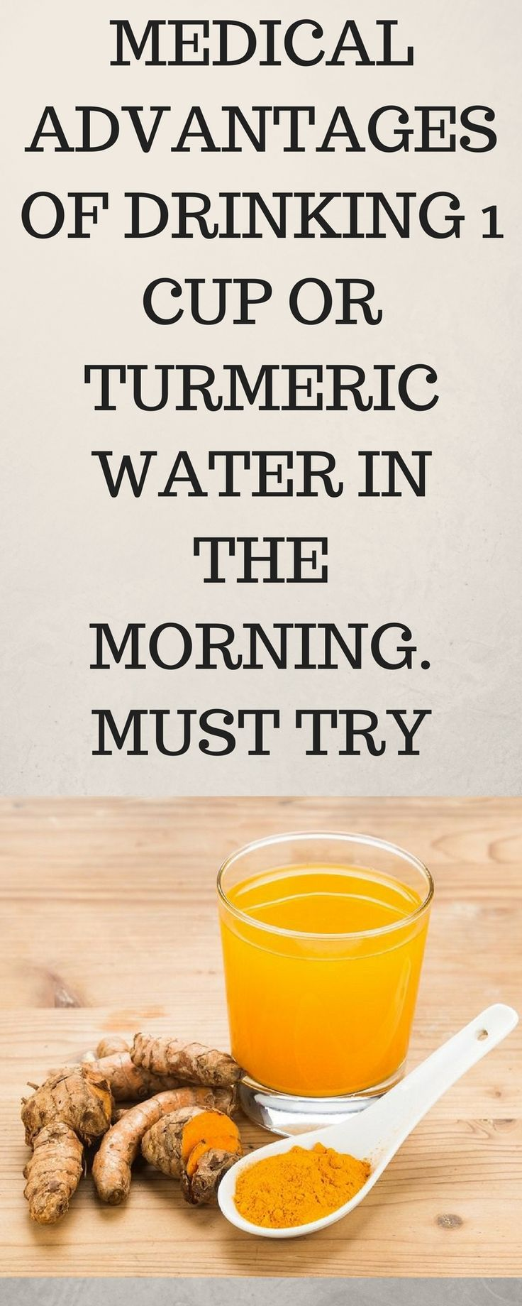 MEDICAL ADVANTAGES OF DRINKING 1 CUP OR TURMERIC WATER IN THE MORNING. MUST TRY