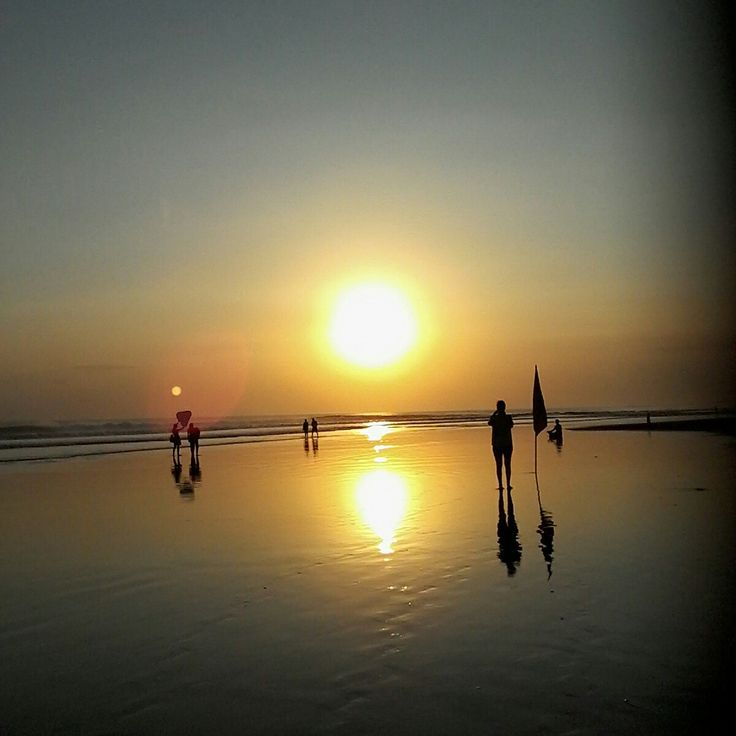 The most besutiful sunset in Bali Indonesia.