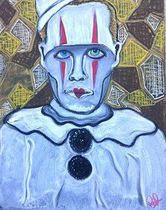 Drawing - Depresso, The Clown by Regina Jeffers