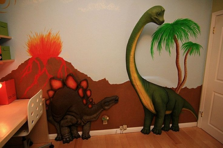 3D Dinosaurier XXL Wandaufkleber Wandtattoo für das Kinderzimmer NEU