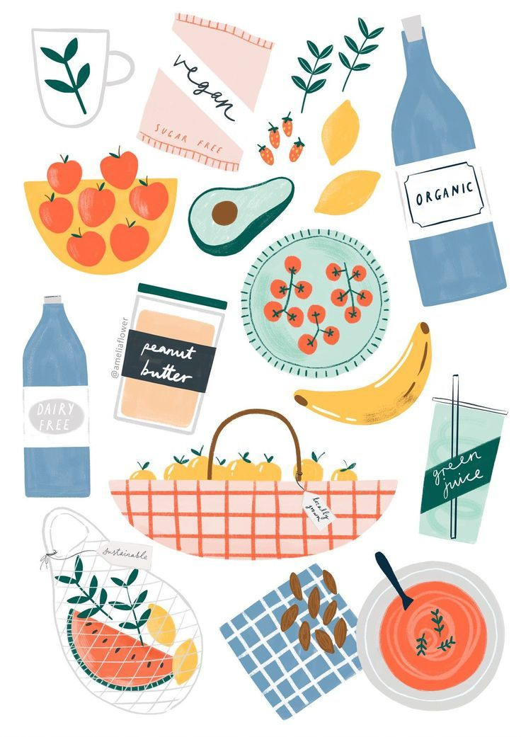 Essen Illustrationen