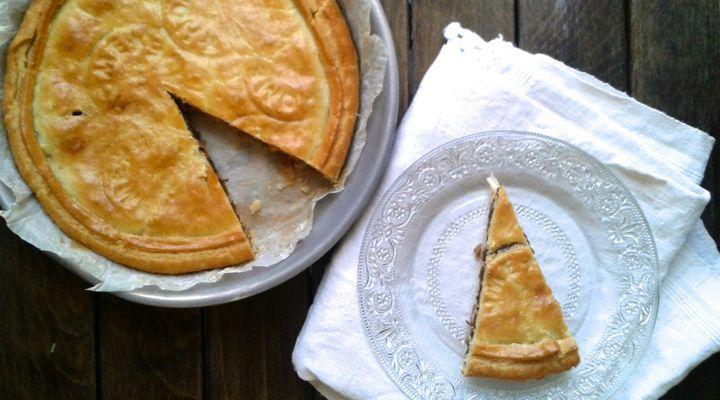 Torta salata con lenticchie, formaggio e prosciutto cotto #tortasalata #lenticchie