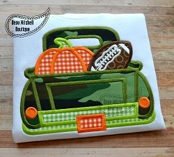 Fall Truck Applique - 5 Sizes!   What's New   Machine Embroidery Designs   SWAKembroidery.com Beau Mitchell Boutique