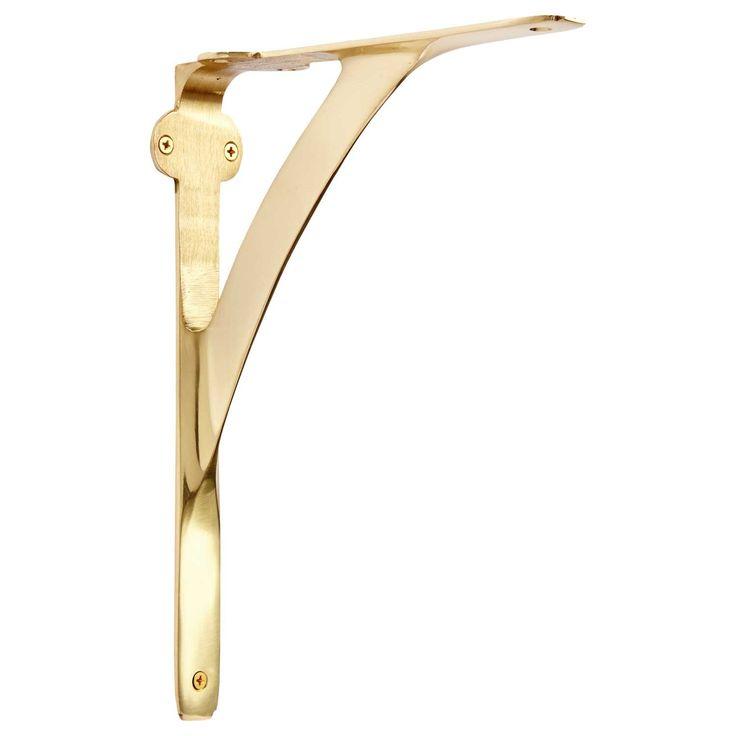 classic brass shelf bracket