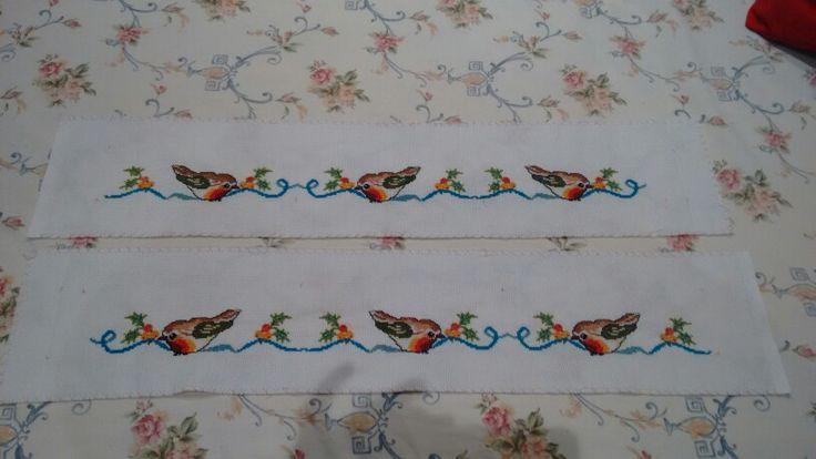 Cenefas de pajaritos para las cortinas de la cocina