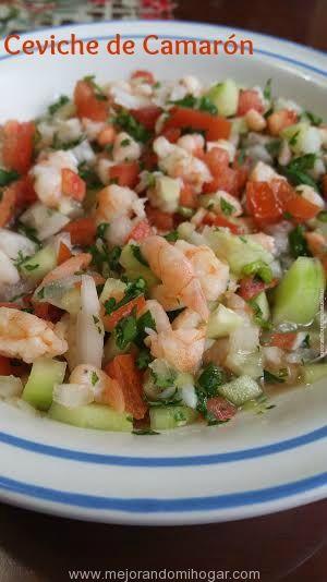 Receta Mexicana para Preparar Ceviche de Camarón