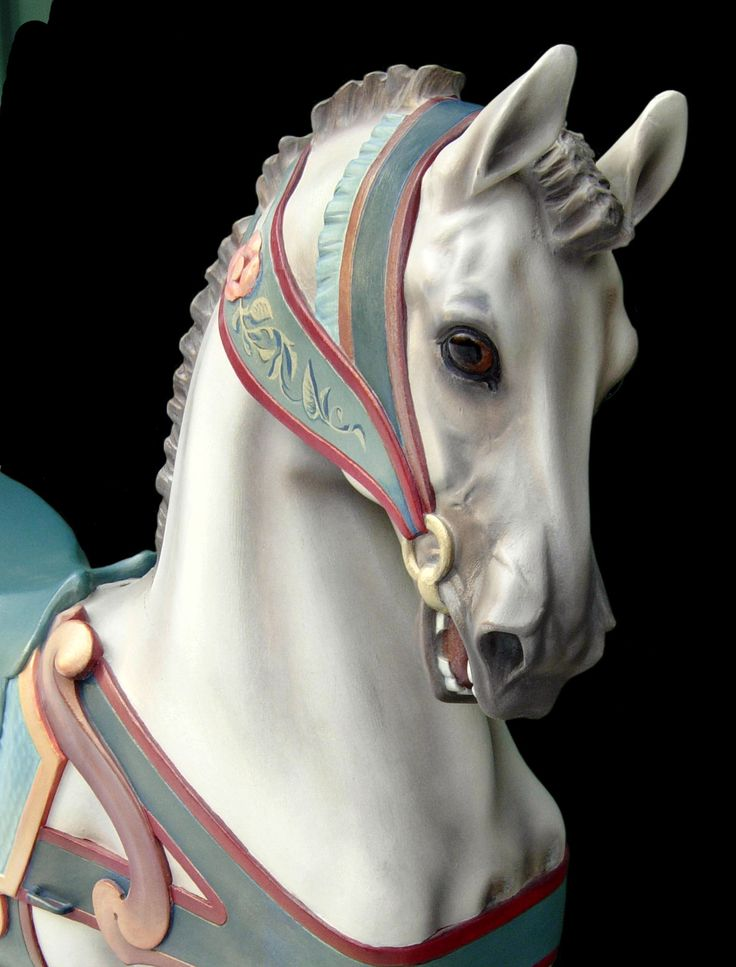 Dentzel Roached Mane Stander Carousel Horse. May be the most beautiful carousel horse I've ever seen.