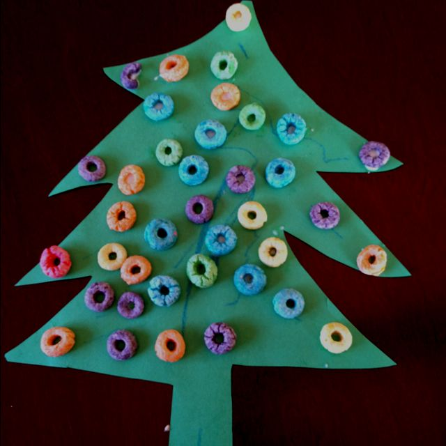 Toddler Christmas craft - just made this with my 3-year-old, so easy and fun.
