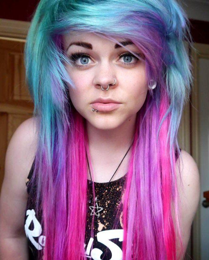 Rhianne Barnsley Multi-coloured hair Directions dye ...