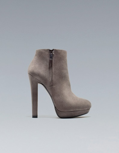 Zara - Suede bootie: Shoes, Boots Women, Bootie Mine, Wide Heel, Ankle Boots, Heel Boots, Fashion Boots