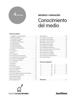 Conocimiento del medio Fichas de refuerzo 1 La digestión y el aparato digestivo . . . . . . . . . . . . . . . . . . 3 2 El aparato respiratorio . . . . . . . .…