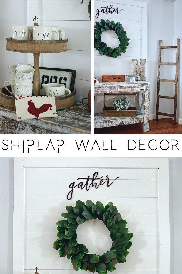 DIY Shiplap Wall Decor Sign Wall Hanging. So super easy to build, takes under an hour. Great for renters www.theruggedroos