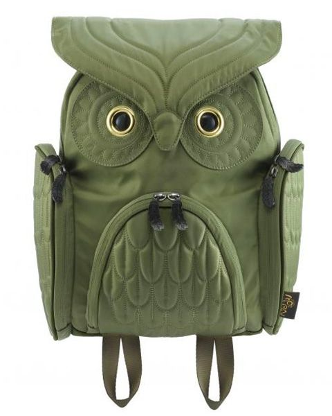 Such a cute owl backpack design.