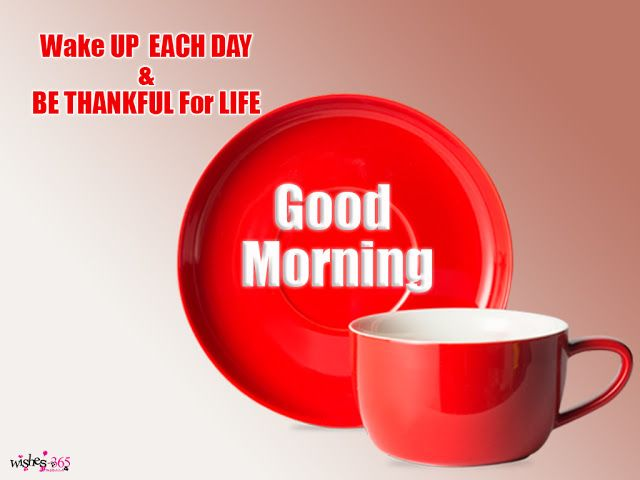 Poetry and Worldwide Wishes: Good Morning Wishes Image with Tea Red Cup and Sweet Background