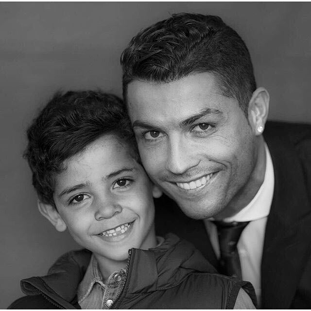 Cristiano Ronaldo and his son :))))
