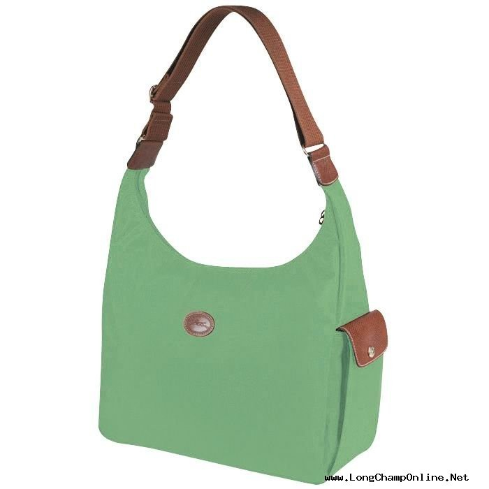 palm green longchamp hobo bag