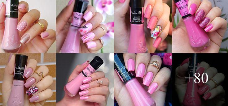 80 fotos de Unhas Bonitas decoradas em cor de rosa