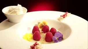 Pandan Pudding with Coconut and Kaffir Lime Ice Cream