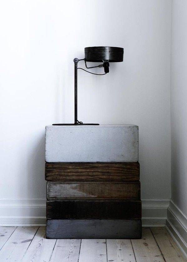 stacking nice materials together  Yvonne Koné lives here! | Scandinavian Deko.