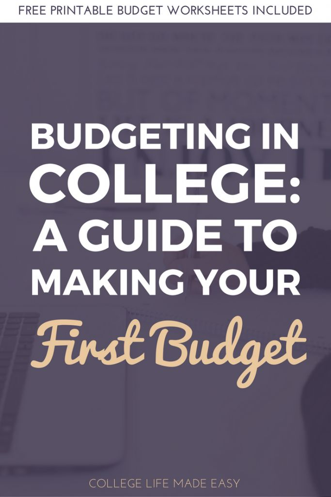 Budgeting in College | Learn to Budget | How to Budget Guide for Beginners | Budgeting for Beginners | Budget Tips & Tricks | Budgeting Tips & Tricks | Free Budget Printables | Free Budget Worksheets | Living on a Budget | College Student Budget Tips | Making Your First Budget | Monthly Budget Worksheets Printables | Saving Money | Budgeting Ideas | Frugal Living | Personal Finance | Articles Posts | Awesome Printable via @esycollegelife