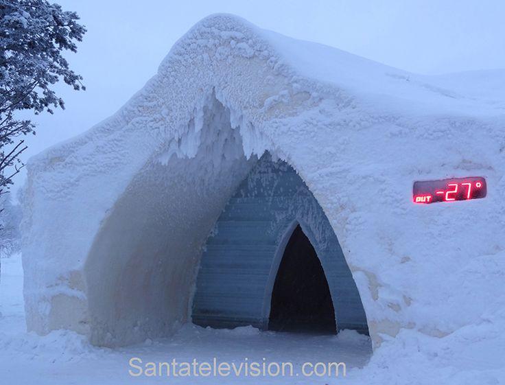 Hotel de nieve Artic en Rovaniemi en la Laponia finlandesa