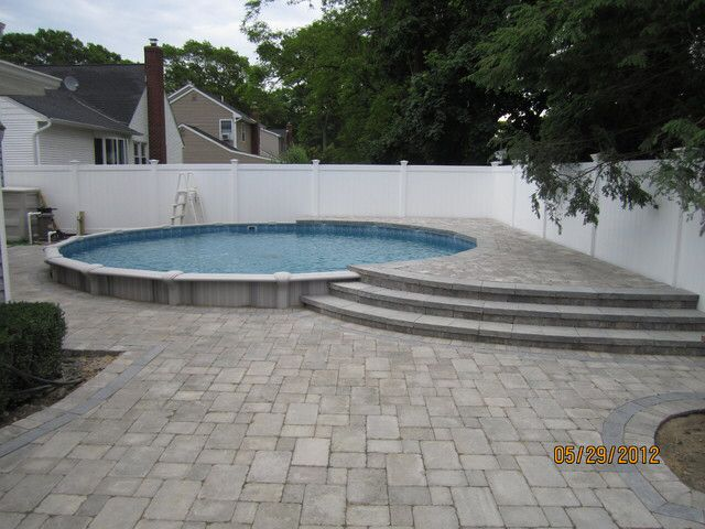 Image From Http://st.houzz.com/simgs/c291926902e55230_4  · Pool PaversPool  LandscapingSemi Inground PoolsIn Ground ...