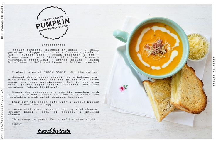 Incredibly creamy Pumpkin Soup! one of our top comfort foods :)